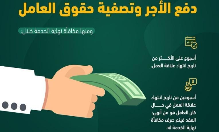 كيفية حساب نهاية الخدمة في نظام العمل السعودي