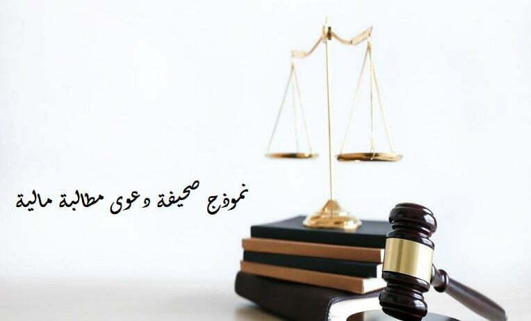 صحيفة دعوى مطالبة مالية